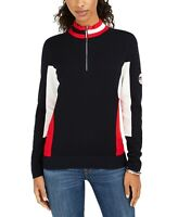 Tommy Hilfiger Womens Sweater Blue Size XXL Plus Pullover Colorblock$79- 140