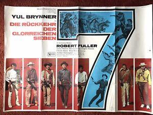 Die Rückkehr der Glorreichen 7 Kinoplakat Poster A0, 1966, Yul Brynner, Western