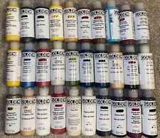 30 Golden Fluids Acrylic Paints 4oz / 118ml bottles lot. BRAND NEW