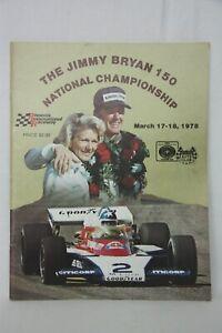 The Jim Bryan 150 Autographed Program Phoenix International Raceway March 1978