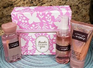 BATH & BODY WORKS A THOUSAND WISHES THANKS FOR BEING YOU GIFT SET BOXED NEW