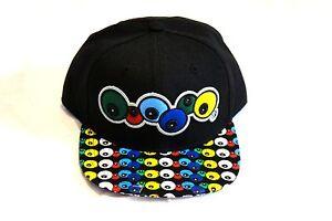 Kids character snapback caps, boys, girls, flat peak baseball hats black eyeball