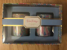 NIB LILLY PULITZER VOTIVE SCENTED CANDLE SET Coral Lovers