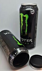 Monster Stash Can 60 Dram Pop Top Smellproof Secret Hidden Safe Airtight