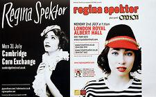 REGINA SPEKTOR FLYERS 2017 TOUR & 2012 LONDON ROYAL ALBERT HALL