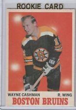Wayne Cashman RC 1970-71 OPC # 7 Boston Bruins NM