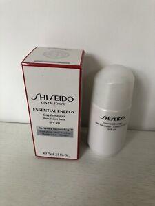 Shiseido Essential Energy Day Emulsion SPF20 75ml BRAND NEW IN BOX RRP £61