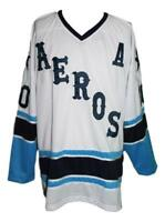 Any Name Number Size Houston Aeros Custom Retro Hockey Jersey Labossiere White