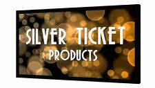"""STR-169120-S Silver Ticket 120"""" Fixed Frame Projector Screen Silver Material"""