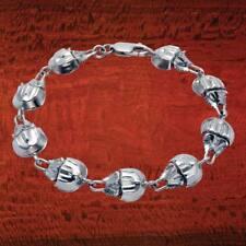 """Sterling Silver Horseshoe Crab 8"""" Bracelet - BR406"""