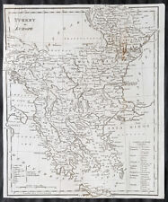 1798 Aaron Arrowsmith Antique Map of Turkey in Europe - Greece to Transylvania