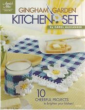 Gingham Garden Kitchen Set Crochet Instruction Patterns Annie's Attic 877503 New