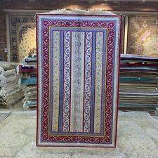 Yilong 3'x5' Strip Pattern Hand Knotted Silk Rug Indoor Kid Friendly Carpet 233B