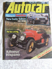 Autocar Weekly Cars, 1980s Transportation Magazines