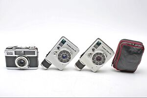 2- Canon Dial 35mm Half 1/2 Frame Cameras+Fuji Fujica Half++READ+LOT of 3