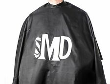 MD Premium Barber Hairdressing Hair Cutting Nylon Logo Cape with Snap Closures