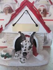 Great Dane Harlequin ~ Doghouse Ornament ~ #66A