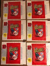 Donruss Baseball Wax Wrappers, 1981, 6 Total