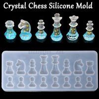 Crystal Chess Shape Silicone Mold DIY Clay Epoxy Resin Mold Pendant Molds A