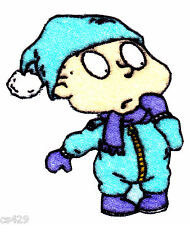 """3.5"""" Rugrats Tommy Winter Play Character Fabric Applique Iron On"""