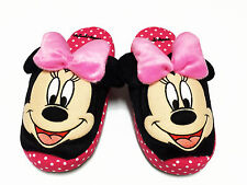 Minnie Mouse Polka Dots Pink Women Slippers Shoes US 5-9 (UK 3-7, EU 34-40) #004