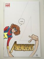 Avengers #1 Ms Marvel Sketch On Blank Sketch Convention variant By Kyle Clark