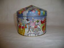 VTG. Churchill's MASQUERADE BALL Embossed English Toffee Tin - Made in England