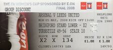 Used Ticket - Arsenal v Leeds United 5.5.2008 Womens FA Cup Final