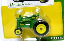 John Deere A Tractor ERTL 1/64 Scale Miniature Model Unstyled With Info Card