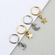 Fashion Women Dangle Star Cross Small Hoop Earrings Ear Piercing Earring Jewelry