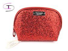 NWT VICTORIA'S SECRET RED SEQUINS COSMETIC MAKEUP BAG CB5