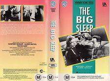 THE BIG SLEEP - Bogart & Bacall VHS -PAL -NEW-Never played!!-Original Oz release