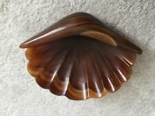 "SHERLE WAGNER  8"" Onyx Sea Shell shape soap dish 348-8"""