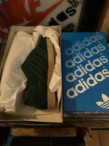 Adidas Vintage Shoes Tobacco Green Hungary New Rare