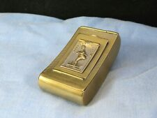 More details for 3 part paul pry brass i hope i dont intrude snuff box misers tobacco pocket case