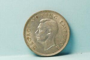 New Zealand, 1941 Shilling, silver, AU-UNC, toned,                          7-10