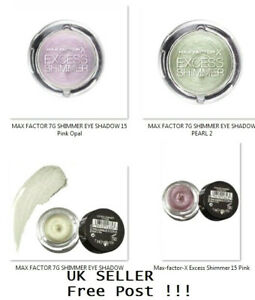 Max Factor Excess Shimmer Eye Shadow 10 Pearl, 15 Pink Opal New UK Free Post !!!