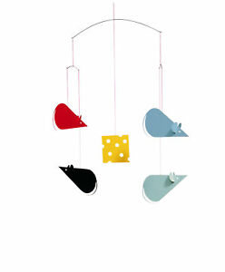 Flensted Cheese Mice Mouse Modern Hanging Baby Mobile Nursery Decor Danish