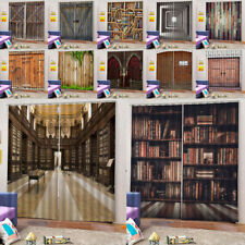 Blackout Wood Door Window Curtains- 3D Printing Room Darkening Drape - 2Panels