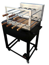 Brazilian BBQ Charcoal Grill - 7 Skewers - Full Grill with side grid