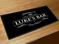 Personalised Bar runner with your name Welcome Beer Label Pubs & Clubs Cocktail