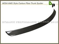 Carbon Fiber AMG Style Trunk Spoiler Lip M-BENZ W204 C250 C300 C350 Sedan 08-14