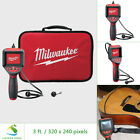 Milwaukee Inspection Camera Scope Kit w 3 ft Cable 2.7 in Screen 9 mm Dia Head