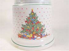CHANDELLE NOEL Christmas Tree Votive Candle Lamp Lantern Glass & Ceramic