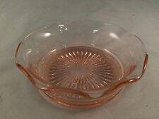 "Pink Depression Glass Bowl 5"" Diameter 1-3/4"" Depth"