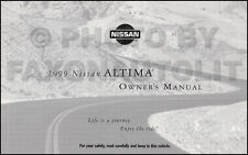 1999 Nissan Altima Owners Manual Original Owner User Guide Book SE XE GXE GLE