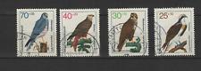 Bundespost ALLEMAGNE 1973 OISEAUX RAPACES 4 timbres oblitérés /T3346