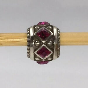 Brighton Spark Bead JC1070 Silver/Fuchsia Collectible Jewelry NWOT Free Ship!