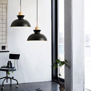 Kitchen Pendant Lighting Bar Wood Lamp Modern Pendant Light Black Ceiling Lights