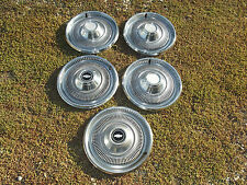 "1970 Chevrolet Bel air Impala chrome 15"" hub cap set of five wheel covers OEM"